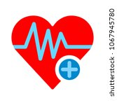 heart icon with add sign ... | Shutterstock .eps vector #1067945780