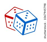 dices icon. casino game icon  ... | Shutterstock .eps vector #1067945798