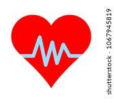 heartbeat symbol  ecg or ekg... | Shutterstock .eps vector #1067945819