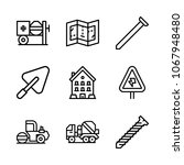icons architecture with nails ... | Shutterstock .eps vector #1067948480