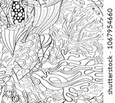 tracery seamless pattern.... | Shutterstock .eps vector #1067954660
