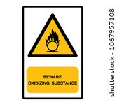 beware oxidizing substance...   Shutterstock .eps vector #1067957108
