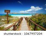 amazing beach la pelosa...   Shutterstock . vector #1067957204