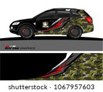 suv car graphics. abstract... | Shutterstock .eps vector #1067957603