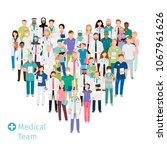 healthcare medical team in... | Shutterstock . vector #1067961626