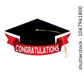 happy graduation background | Shutterstock .eps vector #1067961800