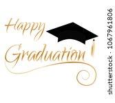 happy graduation background | Shutterstock .eps vector #1067961806