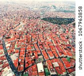 istanbul aerial view. panorama...   Shutterstock . vector #1067963858