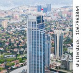 istanbul aerial view. panorama...   Shutterstock . vector #1067963864