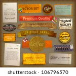vintage and retro design... | Shutterstock .eps vector #106796570