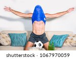 young attractive man happy and... | Shutterstock . vector #1067970059