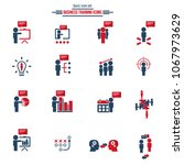training icon set   Shutterstock .eps vector #1067973629