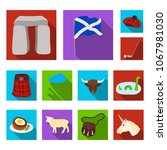 country scotland flat icons in... | Shutterstock .eps vector #1067981030