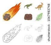 a falling meteorite... | Shutterstock .eps vector #1067983748