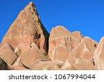 cappadocia landscape in red... | Shutterstock . vector #1067994044