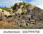 roman necropolis at the ancient ... | Shutterstock . vector #1067994758