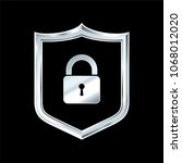 security shield illustration... | Shutterstock .eps vector #1068012020