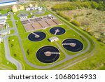 aerial view of sewage treatment ... | Shutterstock . vector #1068014933
