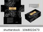 outline flourished flower on... | Shutterstock .eps vector #1068022673