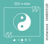 yin yang symbol of harmony and...   Shutterstock .eps vector #1068025130