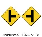 isolated intersection on the... | Shutterstock .eps vector #1068029210