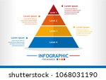 business infographic template... | Shutterstock .eps vector #1068031190