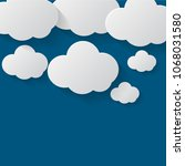 cloud set background.cloud flat.... | Shutterstock .eps vector #1068031580