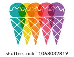 cute rainbow color set... | Shutterstock .eps vector #1068032819