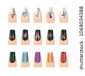 vector finger nail goth lace... | Shutterstock .eps vector #1068034388