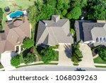 straight down view green... | Shutterstock . vector #1068039263