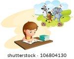 illustration of girl doing... | Shutterstock . vector #106804130