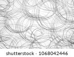 contrasting gray pencil drawing ...   Shutterstock . vector #1068042446