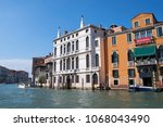 canal grande  grand near ponte... | Shutterstock . vector #1068043490