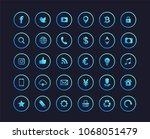 Web Icons. Set Of Blue Gradien...