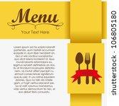 elegant card for restaurant... | Shutterstock .eps vector #106805180