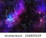 deep or outer space | Shutterstock . vector #106805639