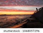 ocean city maryland at sunset | Shutterstock . vector #1068057296