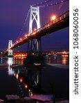 the mid hudson bridge at...   Shutterstock . vector #1068060056
