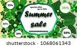 summer banner with paper...   Shutterstock .eps vector #1068061343