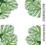 vector illustration of palm... | Shutterstock .eps vector #1068061598