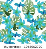 vector illustration of seamless ... | Shutterstock .eps vector #1068062720