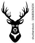 vector illustration of deer... | Shutterstock .eps vector #1068065654