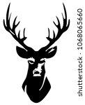 vector illustration of deer... | Shutterstock .eps vector #1068065660