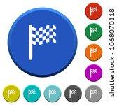 race flag round color beveled... | Shutterstock .eps vector #1068070118