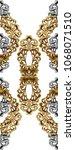 golden baroque ornament | Shutterstock . vector #1068071510