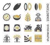 rice icon set   Shutterstock .eps vector #1068073340