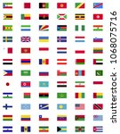 world flag collection   Shutterstock .eps vector #1068075716