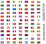 world flag collection   Shutterstock .eps vector #1068075719