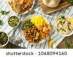 homemade chicken shawarma plate ... | Shutterstock . vector #1068094160