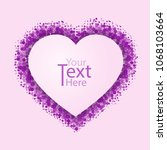 background of heart card for...   Shutterstock .eps vector #1068103664